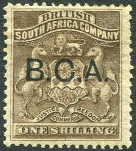 BRITISH CENTRAL AFRICA-1891-95 1/- Grey-Brown Sg 7 MOUNTED MINT V35982