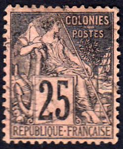 French Colonies Scott 54 Used.