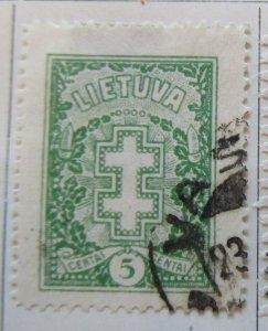 A11P5F51 Litauen Lituanie Lithuania 1929 Wmk Webbing 5c used