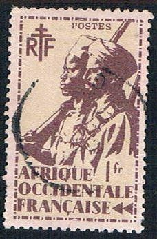 French West Africa 24 Used Colonial Soldier (BP1022)
