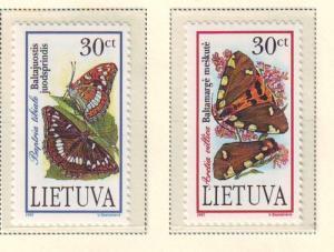 Lithuania Sc 519-20 1995 Endangered Species stamp set mint NH
