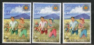 Philippines Scott 1023-25 MH* 1969 set