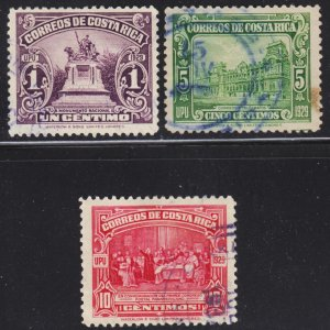 Costa Rica Scott 151-56 complete set F to VF used.