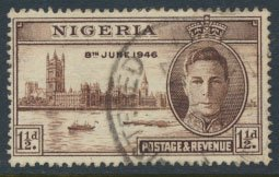 Nigeria  SG 60 SC# 71  Used Victory 1946 please see scan