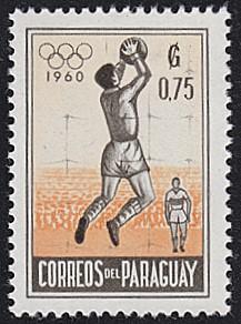 Paraguay # 558 hinged ~ 75¢ Soccer, Goalkeeper