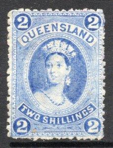 Queensland: 1882 QVI 2/- SG 152 unused