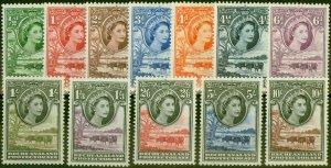 Bechuanaland 1955-58 Set of 12 SG143-153 V.F Very Lightly Mtd Mint