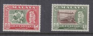KELANTAN, 1963 $ 2.00 & $ 5.00, perf. 13 x 12 1/2, lhm.
