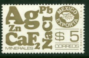 MEXICO Exporta 1120 $5P Minerals. Unwmk Fosfo Paper 4 MINT, NH. VF.