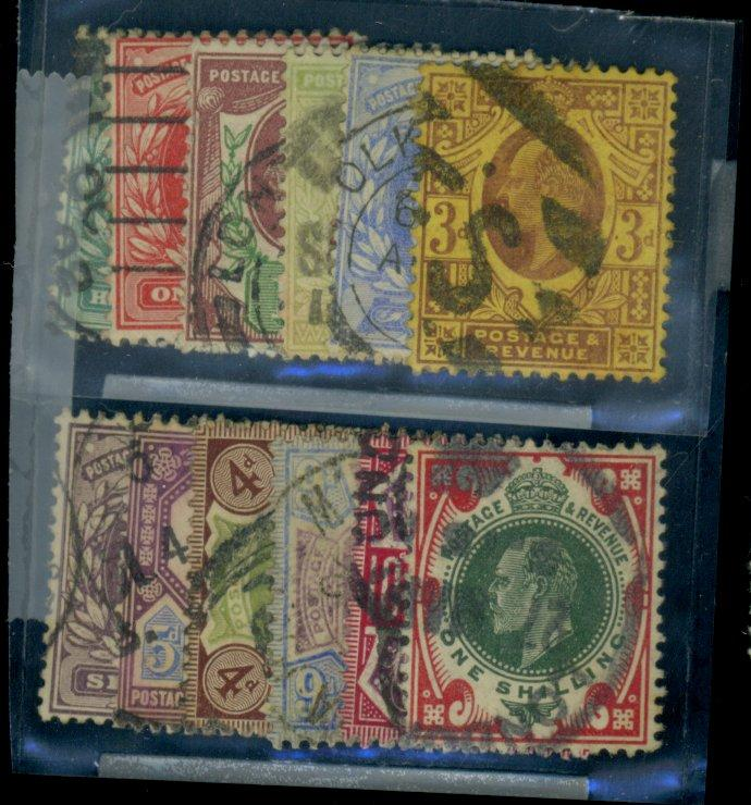 Great Britain #127-138a Used FVF Cat$368