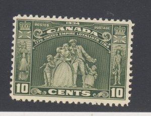 Canada Mint U.E.L. Stamp #209-10c MH F/VF Guide Value = $30.00