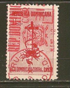Dominican Republic RA15 Postal Tax Used