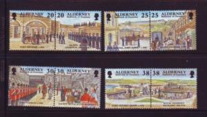 Alderney Sc 134-41 1999 Garrison stamp set mint NH