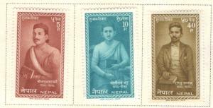 Nepal  Scott 141-143 MH* set