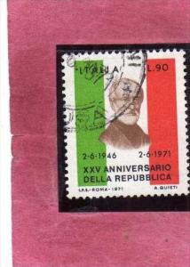 ITALIA ITALY REPUBLIC 1971 XXV 25° ANNIVERSARIO DELLA REPUBBLICA EFFIGIE GIU...