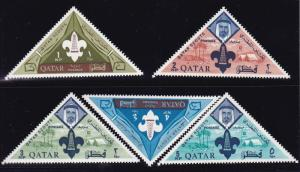Qatar 1965 Boy Scouts Complete (8) Post Office Fresh (**) Sheik Ahmad & Emblem