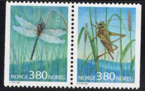 Norway Scott 1180-1181 MNH** insect pair