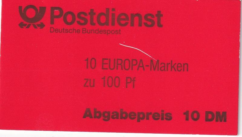 Germany #1830 Booklet  Pane CV $12.50 (A18302)