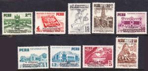 Peru #447-55 MLH/MH Highways cpl