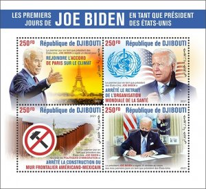 2021. Stamps of  DJIBOUTI. JOE BIDEN.