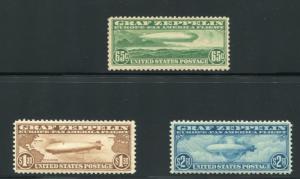 UNITED STATES C13-15 MINT NH ,F-VF+, ZEPPS