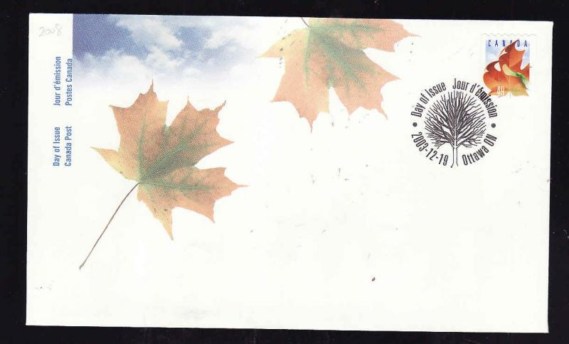 Canada-Sc#2008-stamp on FDC-49c Coil-2003-