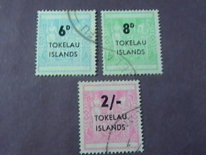 TOKELAU # 6-8-USED---COMPLETE SET----1966