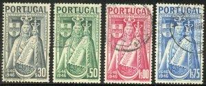 Portugal Scott 671-74 UF-VFLH - Madonna and Child - SCV $3.85