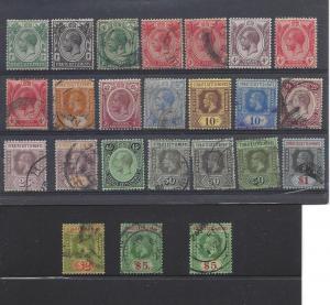Straits Settlements,149-67c (24v),King George V Sgls,**U**