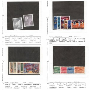 Lot of 55 Yugoslavia Assorted Mixed Condition Stamps #151001 X R