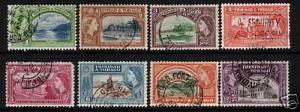 TRINIDAD & TOBAGO 1953 QEII PART  SET TO 12c FU
