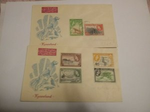 Nyasaland 1953 First Day Covers
