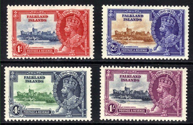 Falkland Islands 1935 KGV Silver Jubilee MM SG 140 & 141.Umm 139 & 142 ( C1424 )