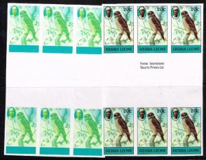 Sierra Leone Color Proof Series - Gutter Blocks of 6 - Never Hinged - Lot 110215