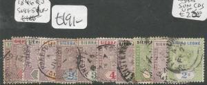 Sierra Leone 1896 QV SG 41-51 VFU (3chb)