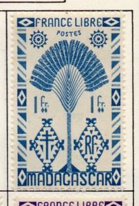 Madagascar 1943  Issue Fine Mint Hinged 1F. 141597