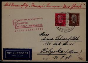 Germany Catapult card 27.9.31, creased