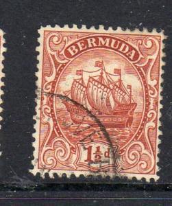 BERMUDA #84  1934  1 1/2p CARAVEL    F-VF USED  b