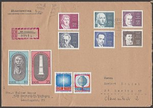 EAST GERMANY 1976 Registered cover - great franking.........................B359