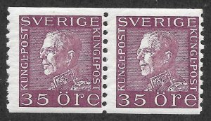 Doyle's_Stamps: VF MNH 1930 Swedish Scott #181** Coil Pair of Stamps