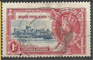 BASUTOLAND, 1937, used 1p, Silver Jubilee Issue Scott 15