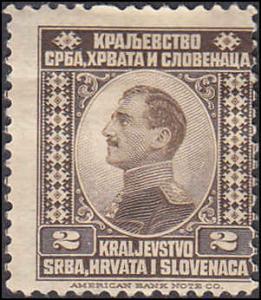Yugoslavia Scott 1 King Alexander MH