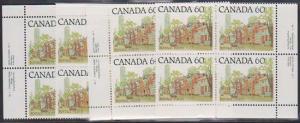 Canada USC #723C Mint Plate 1 MS VF-NH Cat. $34.00 1982 60c Street Scene