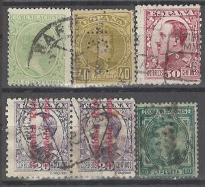 COLLECTION LOT # 2900 SPAIN 6 STAMPS 1889+ CV+$20