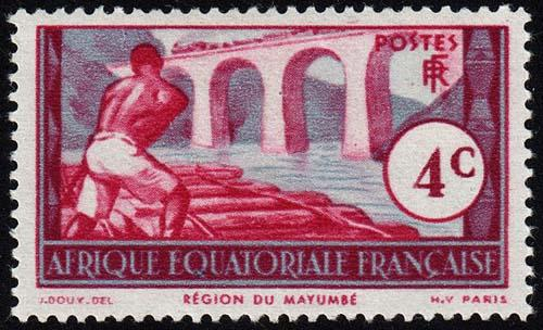 French Equatorial Africa - Scott 36 - Mint-Hinged - Pencil Marks on Back