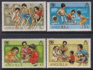 1981 Anguilla UNICEF 35th Anniversary complete set MNH Sc# 448 / 451 CV: $3.70