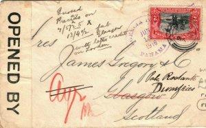 PANAMA WW1 Cover CENSOR GB Scotland Glasgow Forwarded Dumfries 1916 LS122