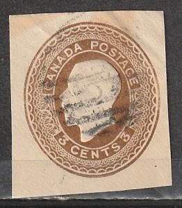 U21 Canada Used Envelope stamp George V