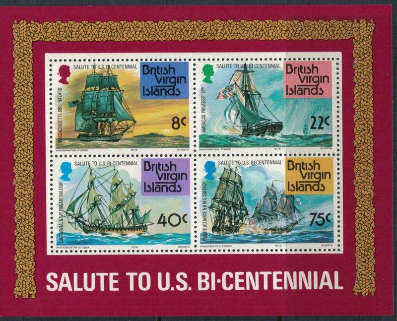 Virgin Islands #309-12a* NH CV $13.55 US Bicentennial set & souvenir sheet