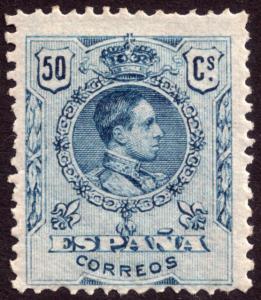 Spain 1909 50c Blue SG339a MH